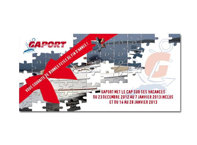 Conception carte de voeux pour la société Gaport à Hyères (83)