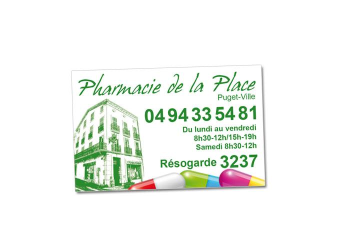 Réalisation magnet Pharmacie de la Place à Puget-Ville
