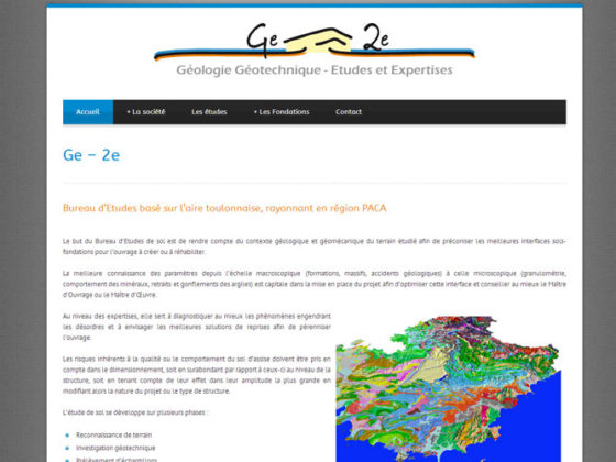 Création site Internet de la société Ge-2e – Ollioules (Var)
