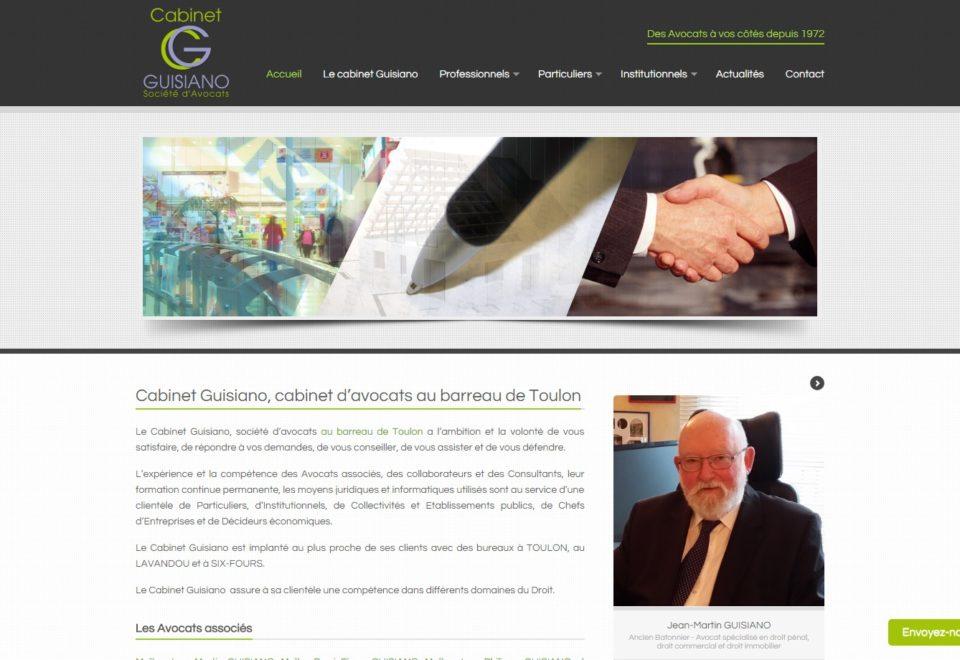 Création site internet pour le Cabinet Guisiano Avocats au barreau de Toulon (83)