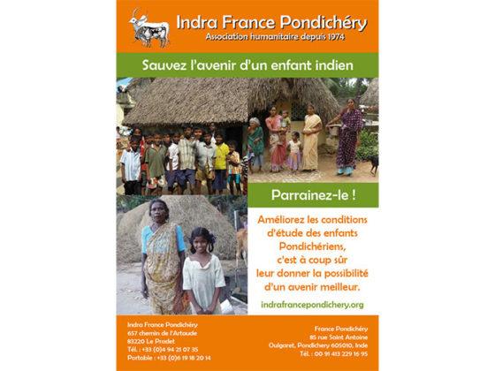 Réalisation Affiche pour l'association Indra France Pondichéry au Pradet (Var)