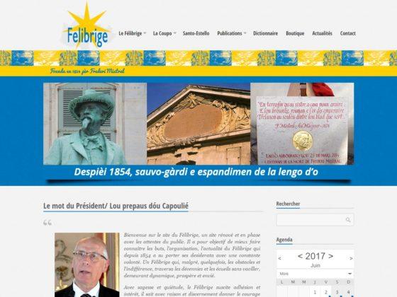 Création site internet pour l'association Le Felibrige à Aix-en-Provence (13)
