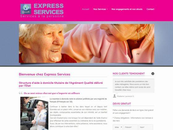 Refonte site internet pour la société Express Services à Toulon (83)