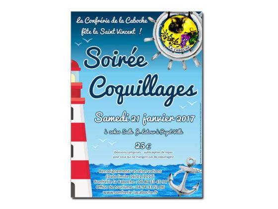 Affiche Soirée Saint Vincent Confrérie La Caboche à Puget-Ville (83)