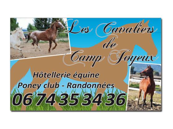 Panneau adhésif pour Les Cavaliers de Camp Joyeux à Puget-Ville (83)