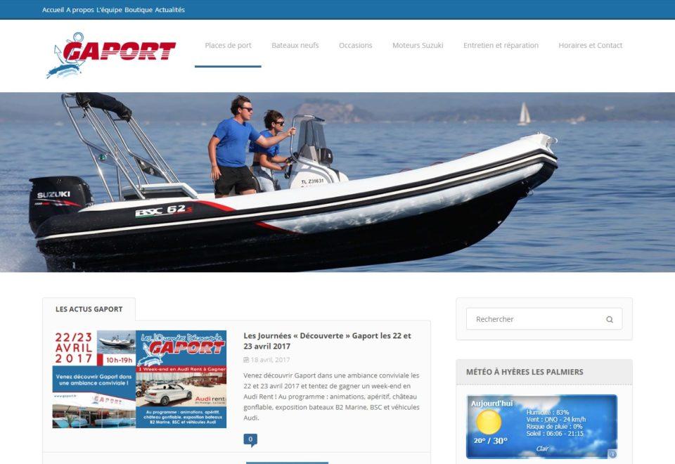 Refonte site internet pour la société Gaport à Hyères (83)