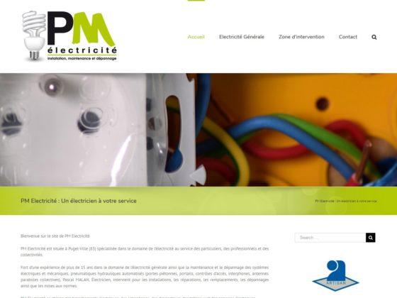 Refonte site internet pour l'entreprise PM Electricité à Puget-Ville (83)