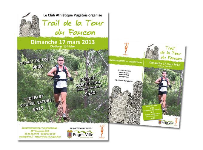 Réalisation Affiche et dépliant Trail Club Athlétique Pugétois