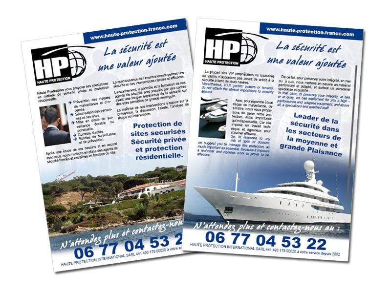 Réalisation Prospectus pour la société Haute Protection France à Toulon (Var)