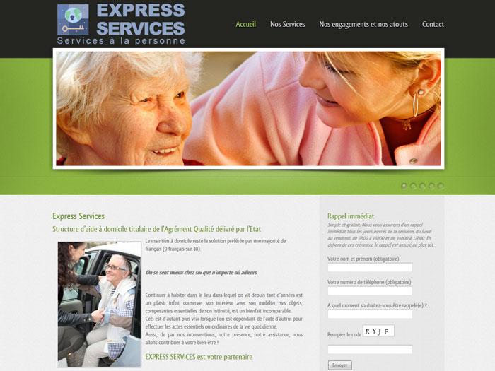 Création site internet pour la société Express Services à Toulon (Var)