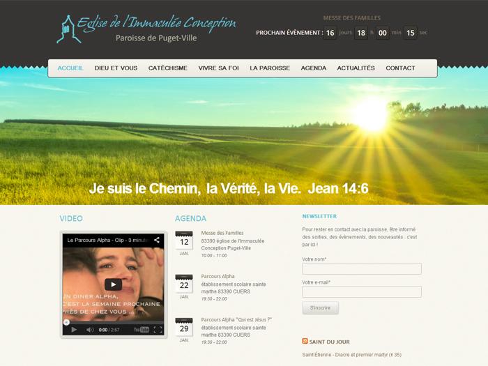 Création site internet Paroisse Puget-Ville (Var)