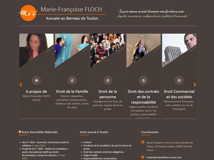 Création site internet pour Maître FLOCH Marie-Françoise Avocate à Toulon (83)