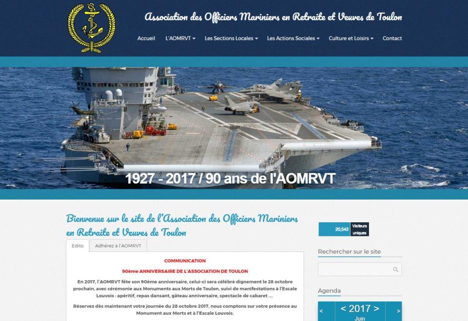 Refonte site Internet Officiers Mariniers en Retraite et Veuves de Toulon (83)