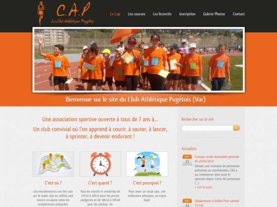 Création site internet pour le Club Athlétique Pugétois à Puget-Ville  (83)
