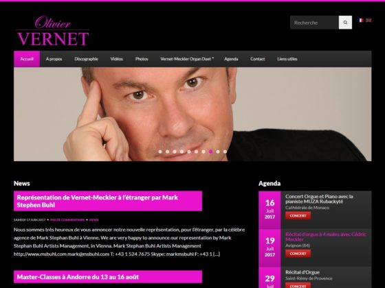 Refonte site internet pour Olivier Vernet Organiste