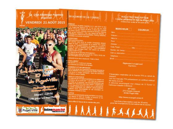 Réalisation Affiche et dépliant Course pédestre Club Athlétique Pugétois