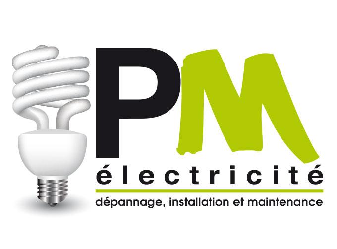 Conception Logo pour l'entreprise PM Electricité électricien à Puget-Ville (83)