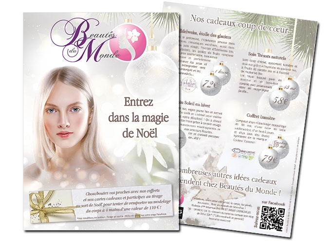 Beautés du Monde Flyer Spécial Noël