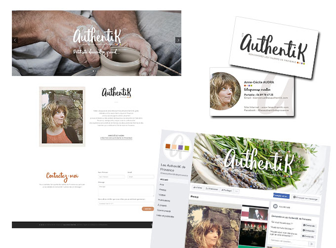 Communication web et print les Authentik de Provence